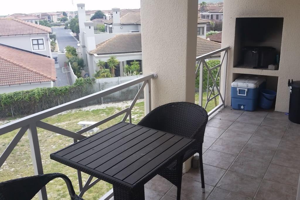 Balcony with braai