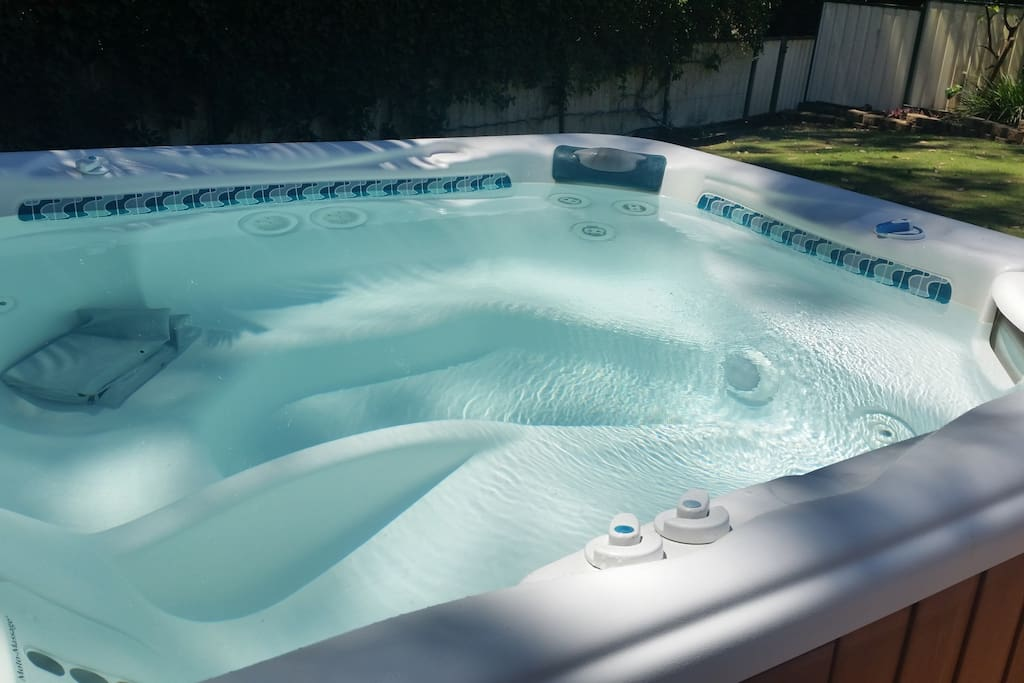 Relax in our private spa