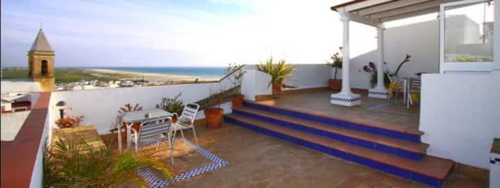 Apartamento Centro Terraza con vistas al mar.