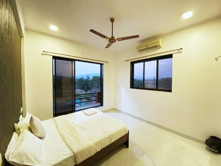 4BHK Villa with Private Pool and Mountain View
