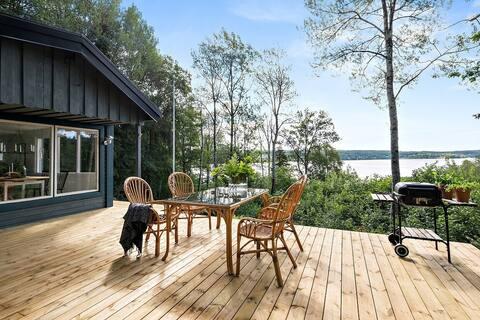 Idyllisk beliggenhed ved søen med magisk udsigt