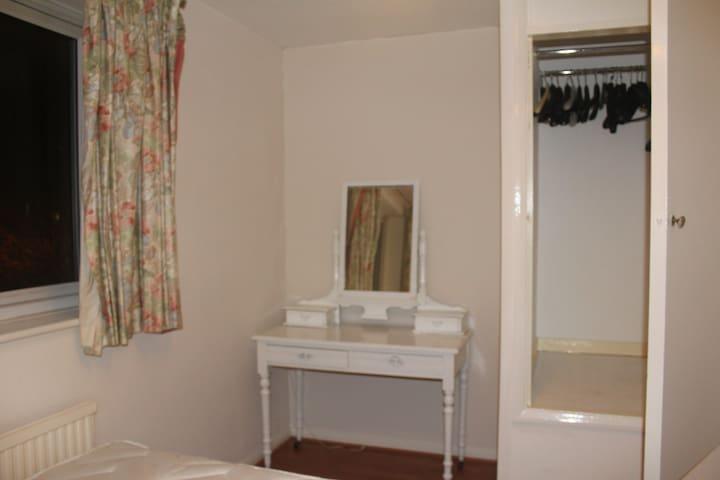 Bedroom's Desk and Closet