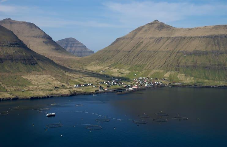 Apartment in the peaceful village Oyndarfjørður