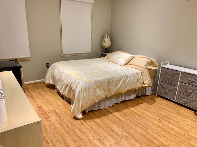 Cozy private master bedroom with private bathroom!