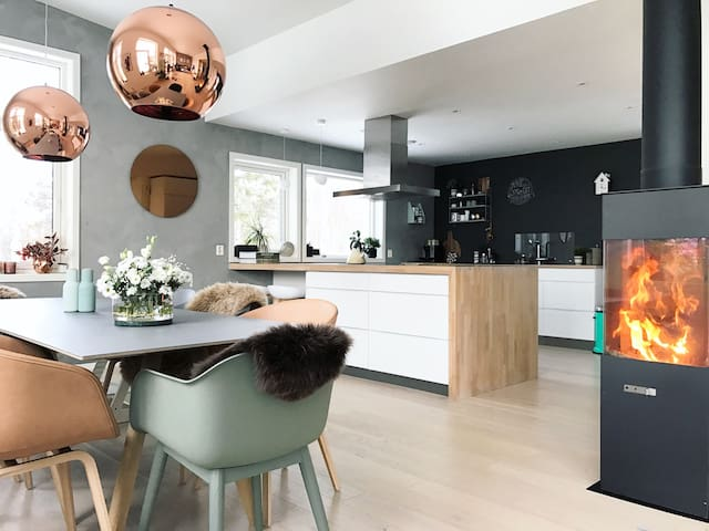 Modern new house, 5 bedrooms, view. - Lillehammer - Hus