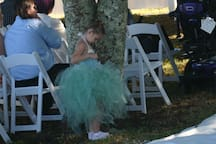 Flower Girl Riveted to Ceremony