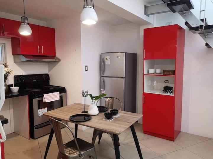 Moderno Loft con Terraza, excelente ubicación