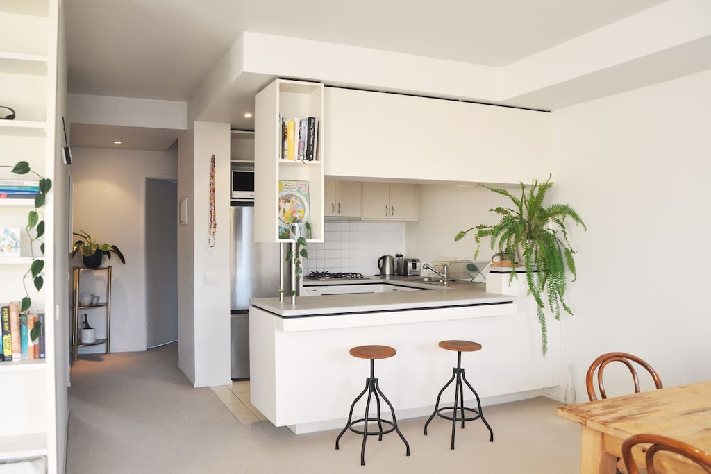 Fully equipped kitchen for a meal at home