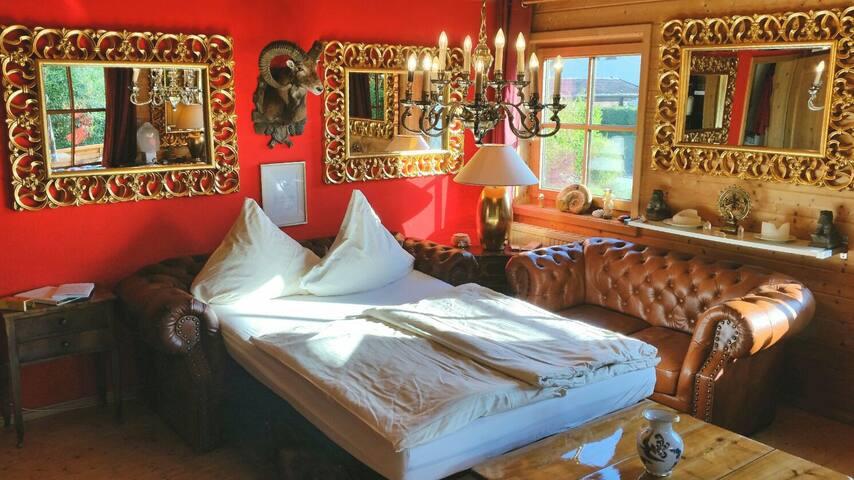 Engl. Zimmer mit Balkon & Garten im Ferienhaus - Hergensweiler - Apartment
