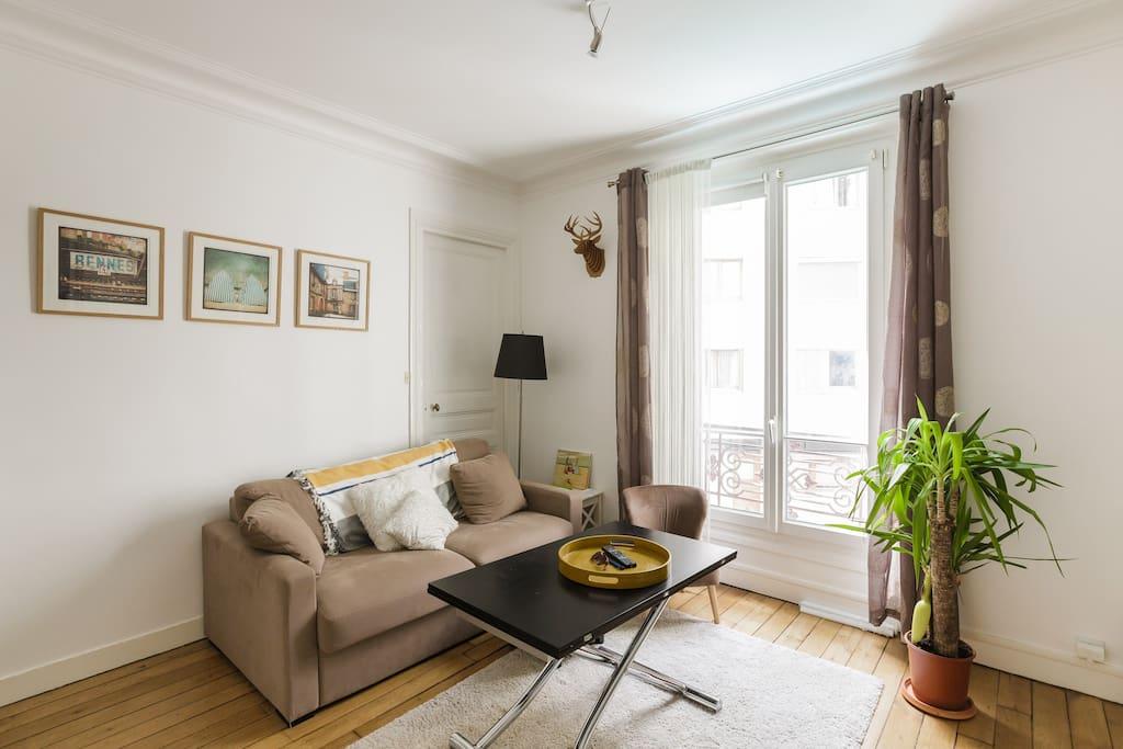 Appart au calme dans un quartier tr s anim appartements for Appart hotel paris location au mois