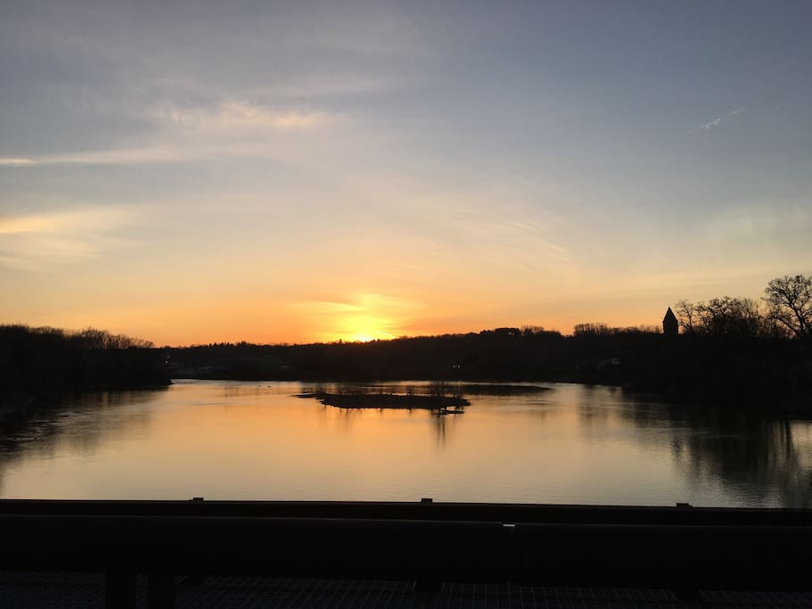 Sunset where the Mohawk River joins the Hudson!