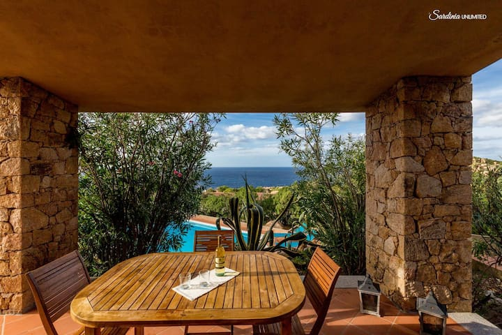 Agave with shared pool and great seaview - Costa Paradiso - House