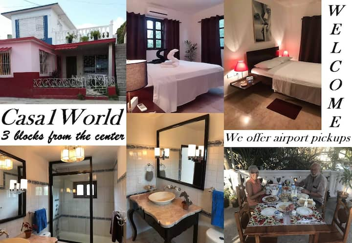 Casa1World 3 blocks from the Center + WIFI Bed1