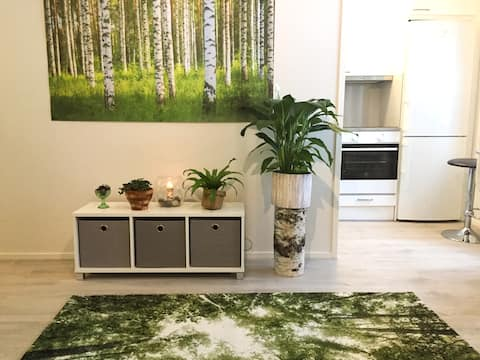 Forest Themed Apartment With a Beautiful View