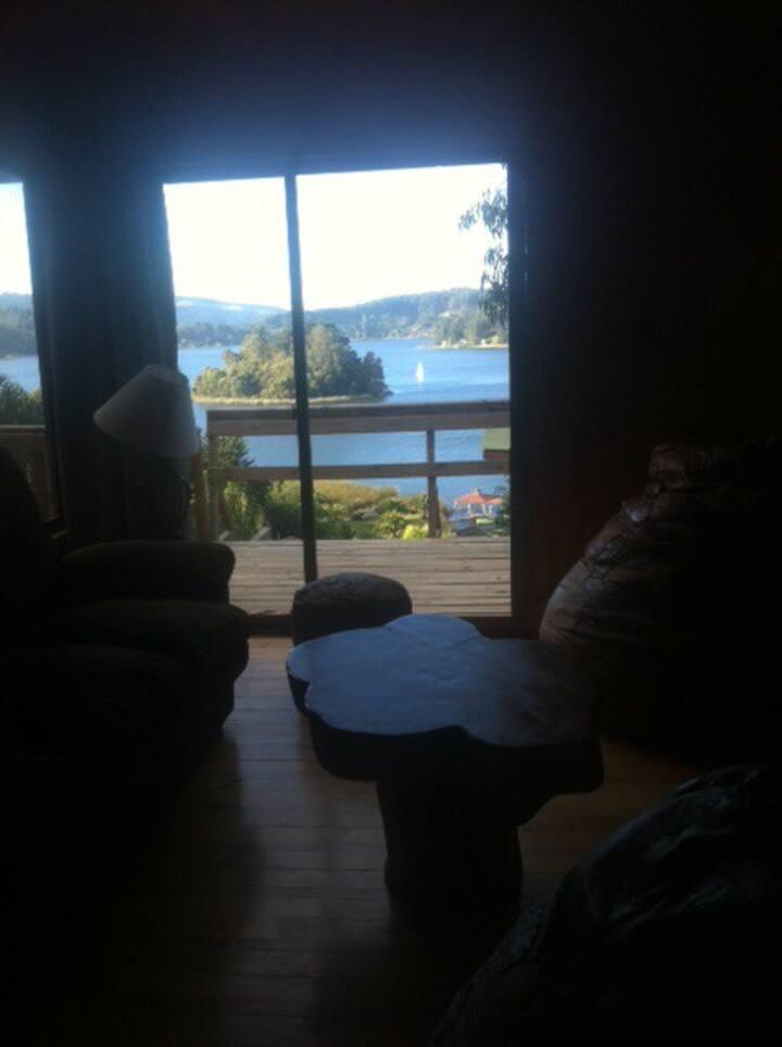 Hermosa casa en Lago Vichuquen en un lugar mágico.