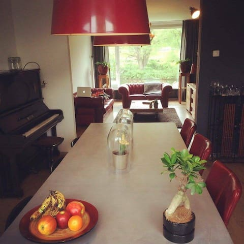 House with green view @ 10 min city walk - Groningen - Departamento