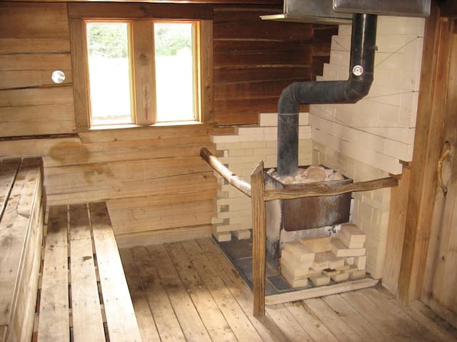 inside the sauna