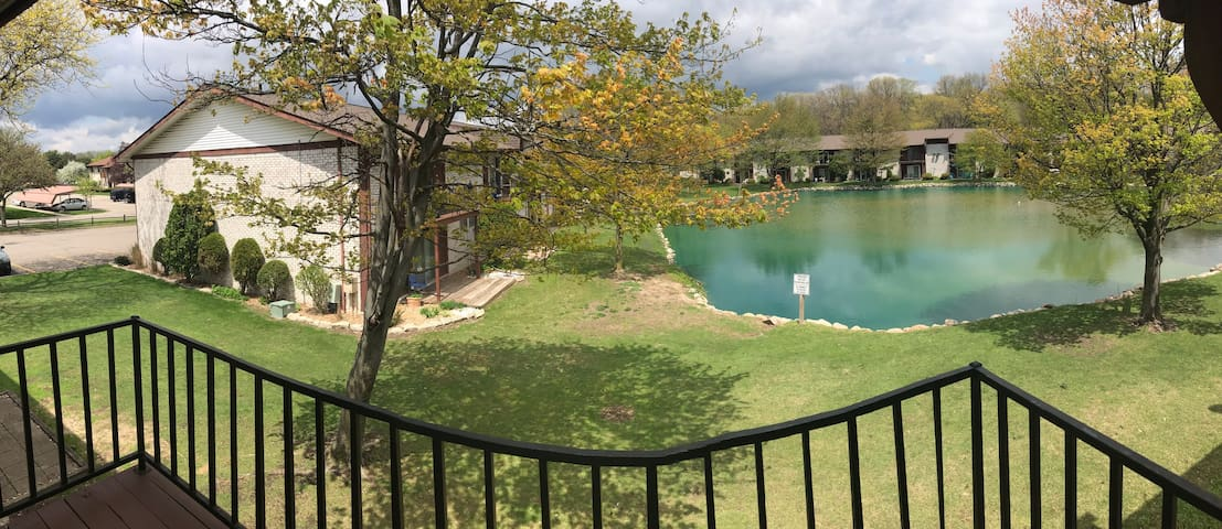 Westland condo with pond view