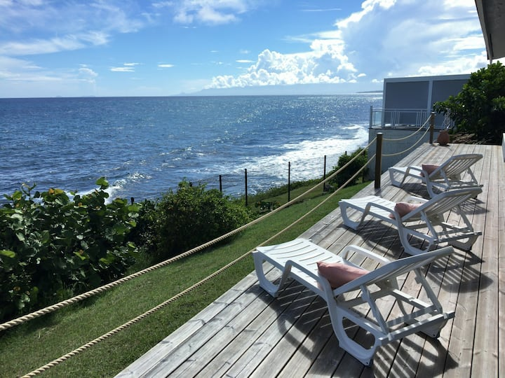 Grand bleu, une villa avec piscine face à la mer