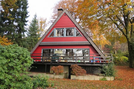 Lovely wooden house with panoramic view - Morsbach