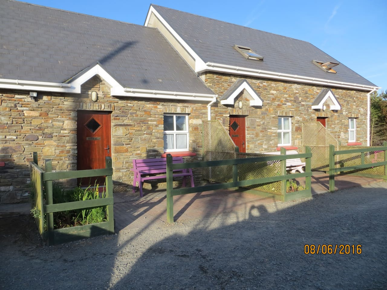 Maulin, Milleeny and Miskish cottages at Inches House, Eyeries, Beara, Co. Cork Ireland