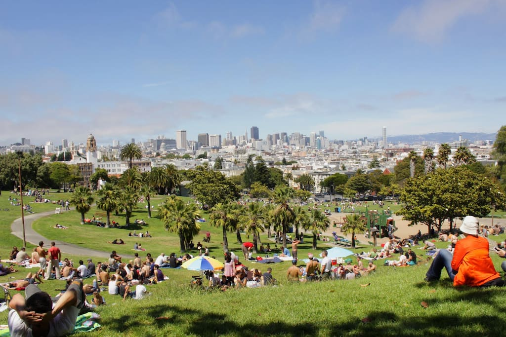Up the street from Dolores Park, a popular SF hangout spot