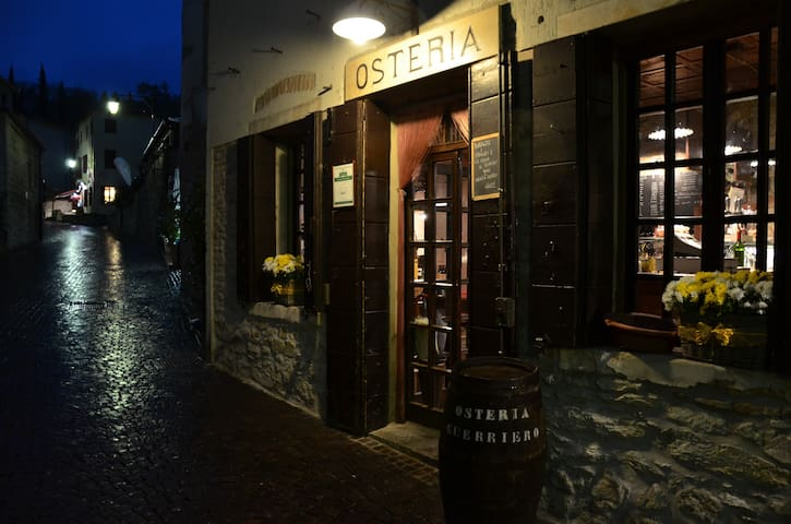 "Cosy ""osteria"" owned by friends  in the nearby village of Arquà Petrarca"