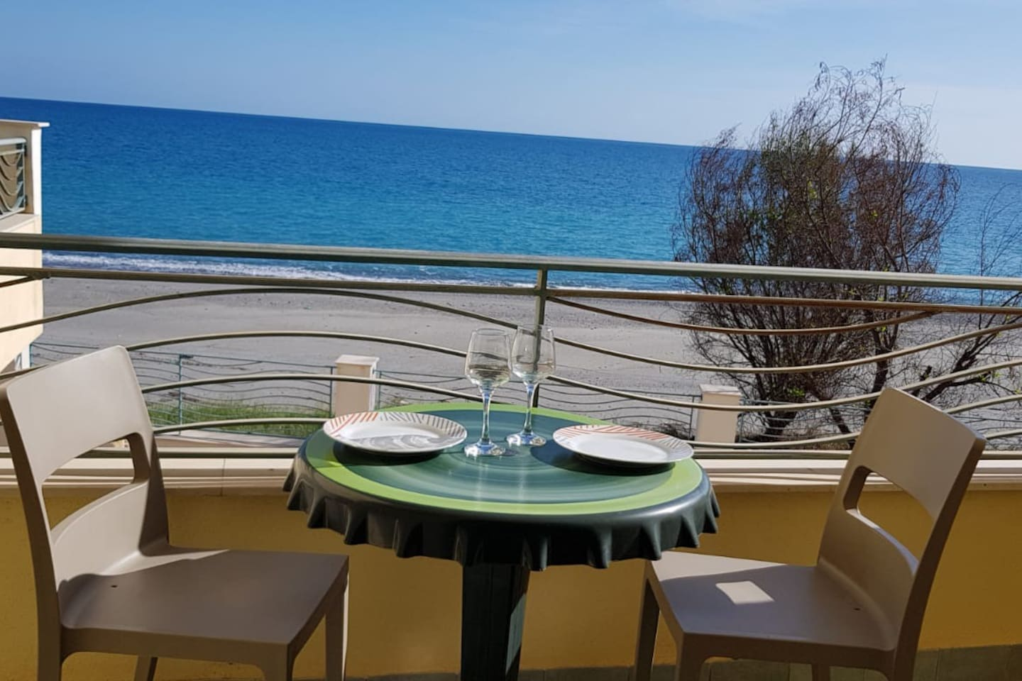 East facing balcony. Enjoy your morning sun, coffee and lunch in the fresh breeze of the Ionic sea.