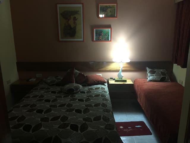 Habitación con 1 cama XL y una cama Personal