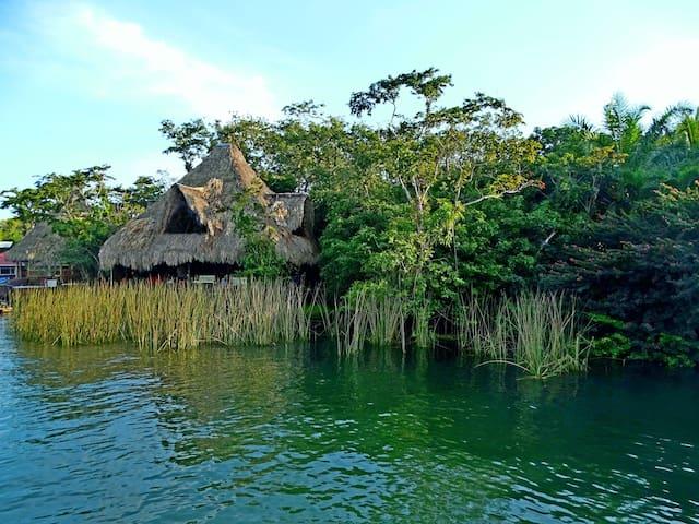 Cabins of Monkey Bay on the Rio Dulce, Guatemala