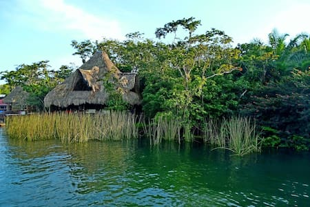 Cabins of Monkey Bay on the Rio Dulce, Guatemala