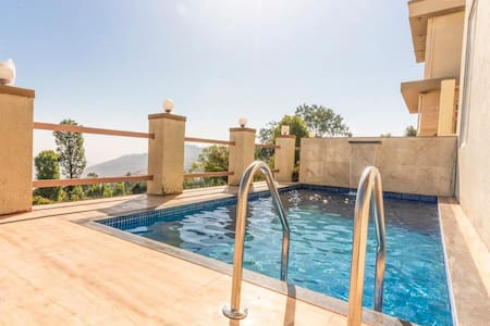 EKOSTAY | 4BHK Villa with Pvt Pool and Valley View