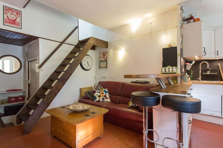 Sunny duplex in Antibes old town - 昂蒂布 - 公寓