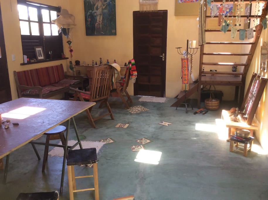 Sala e cozinha acoplada