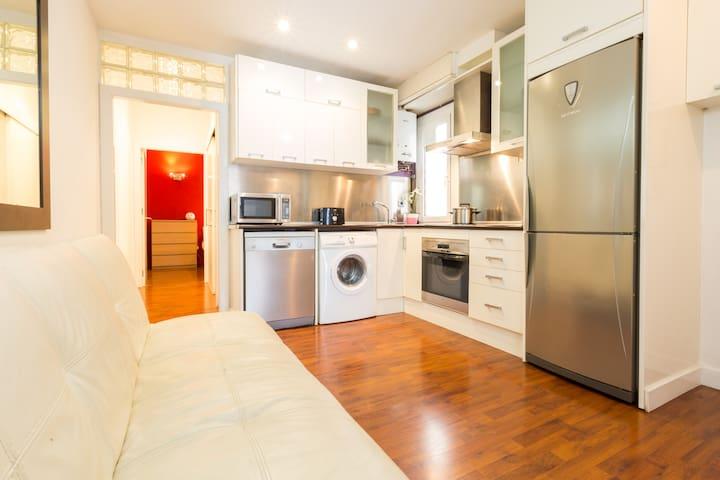 Precioso apartamento WIFI a 10 minutos de la playa - Barcelona