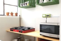 The Kitchen, fully equiped.
