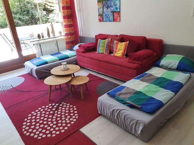 """Apartment 101 """"Luisa"""", (Schönwald), Apartment 101 """"Luisa"""", 60qm, Balkon, 1 Schlafzimmer, max. 4 Personen"""