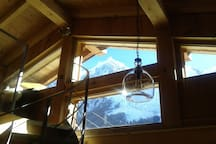 Aiguille du Midi view  from living room