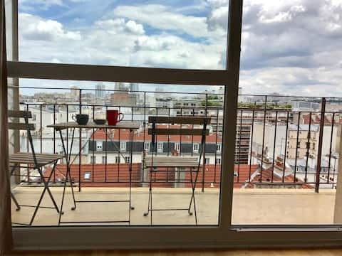 Очаровательная студия Tout Confort Montmartre RooftopsParis