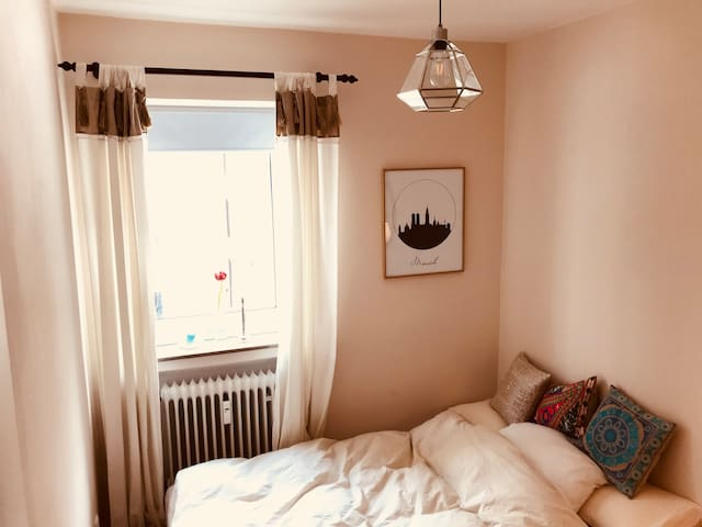 Cosy bright room in central Munich Lehel