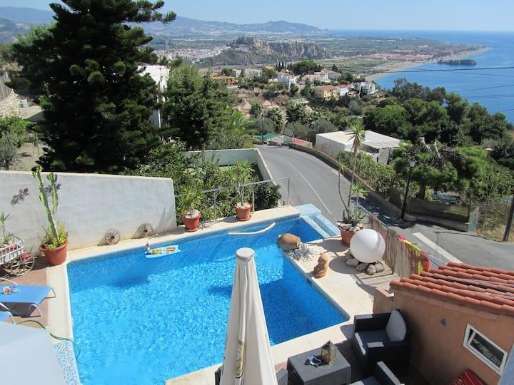 Villa La Luna with private heated pool