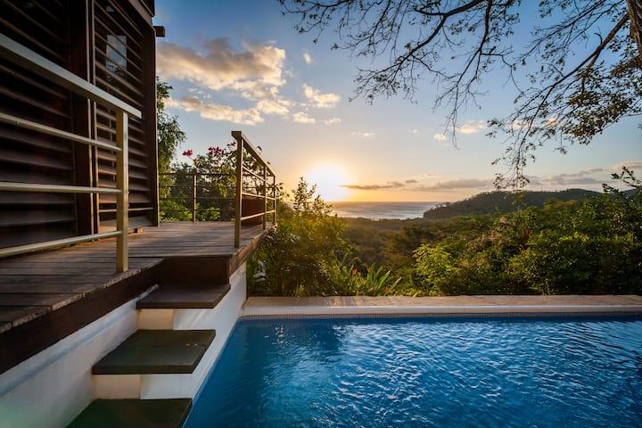 Boho Jungle Retreat, ocean views, private pool