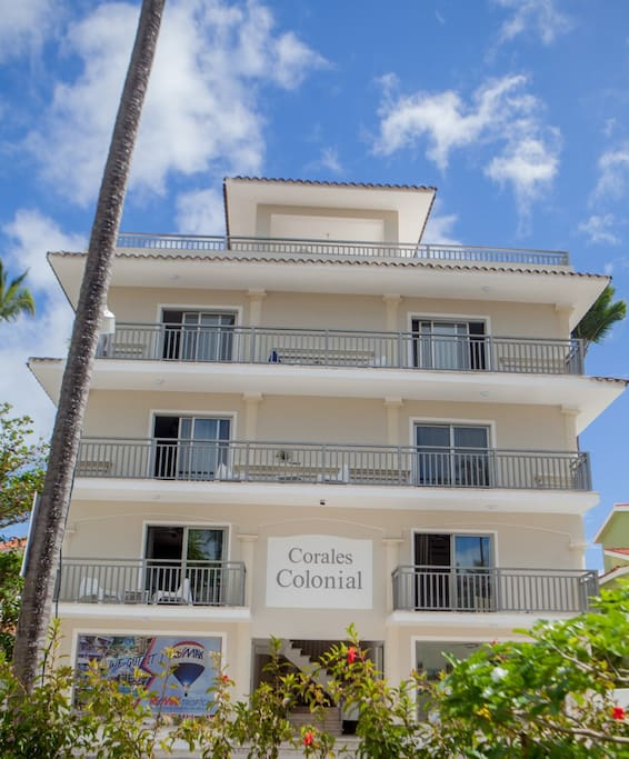 Corales Colonial, new apartments locates at Los Corales Complex  restaurants,bars supermarket just 1 minute walking distance