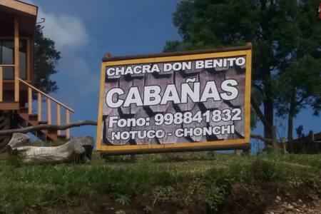 CABAÑA 3 CHACRA DON BENITO CHONCHI