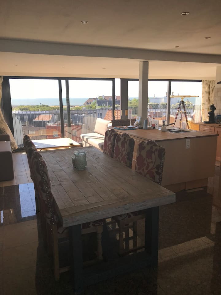 Seeview penthouse with sunny terrace