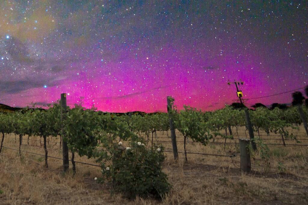 Aurora Australia from the vineyard
