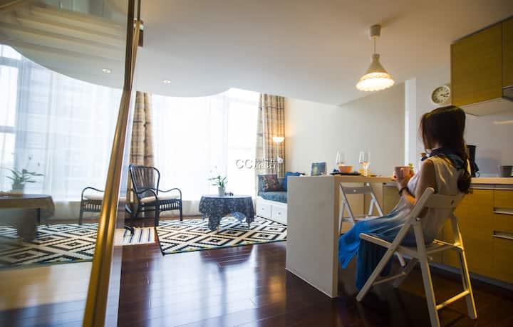 浪漫满屋:Cosy LOFT,Perfectly located.新市中心的优雅文艺白金五星复式公寓