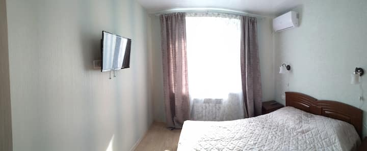 Апартаменты с 2 спальнями и кухней 800 м. от моря
