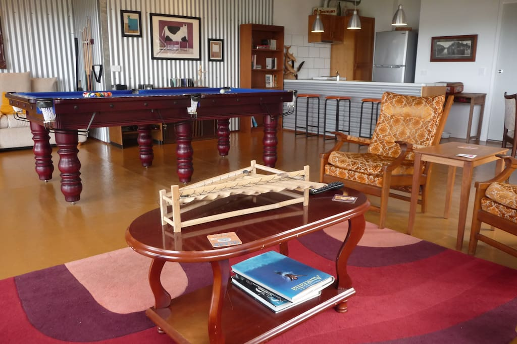 Pool table and library