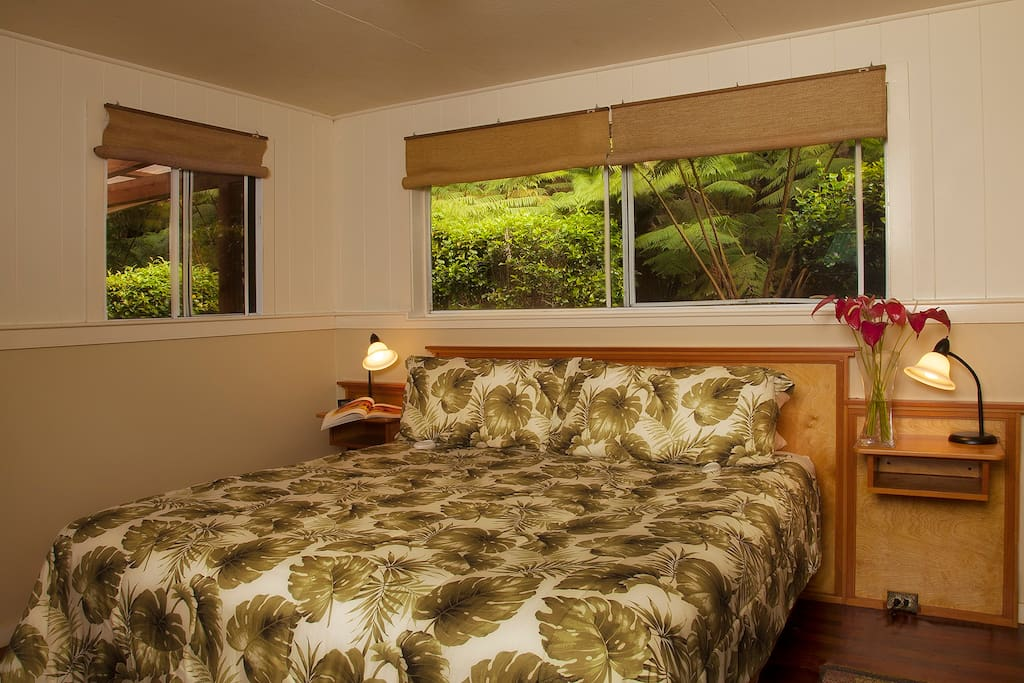 Spacious master bedroom, with cal-king bed